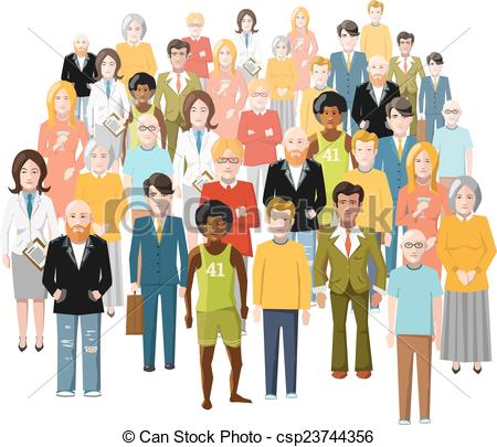 Different People Different Strengths Clipart.