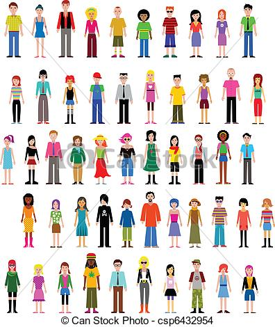 People Are Different Clipart.