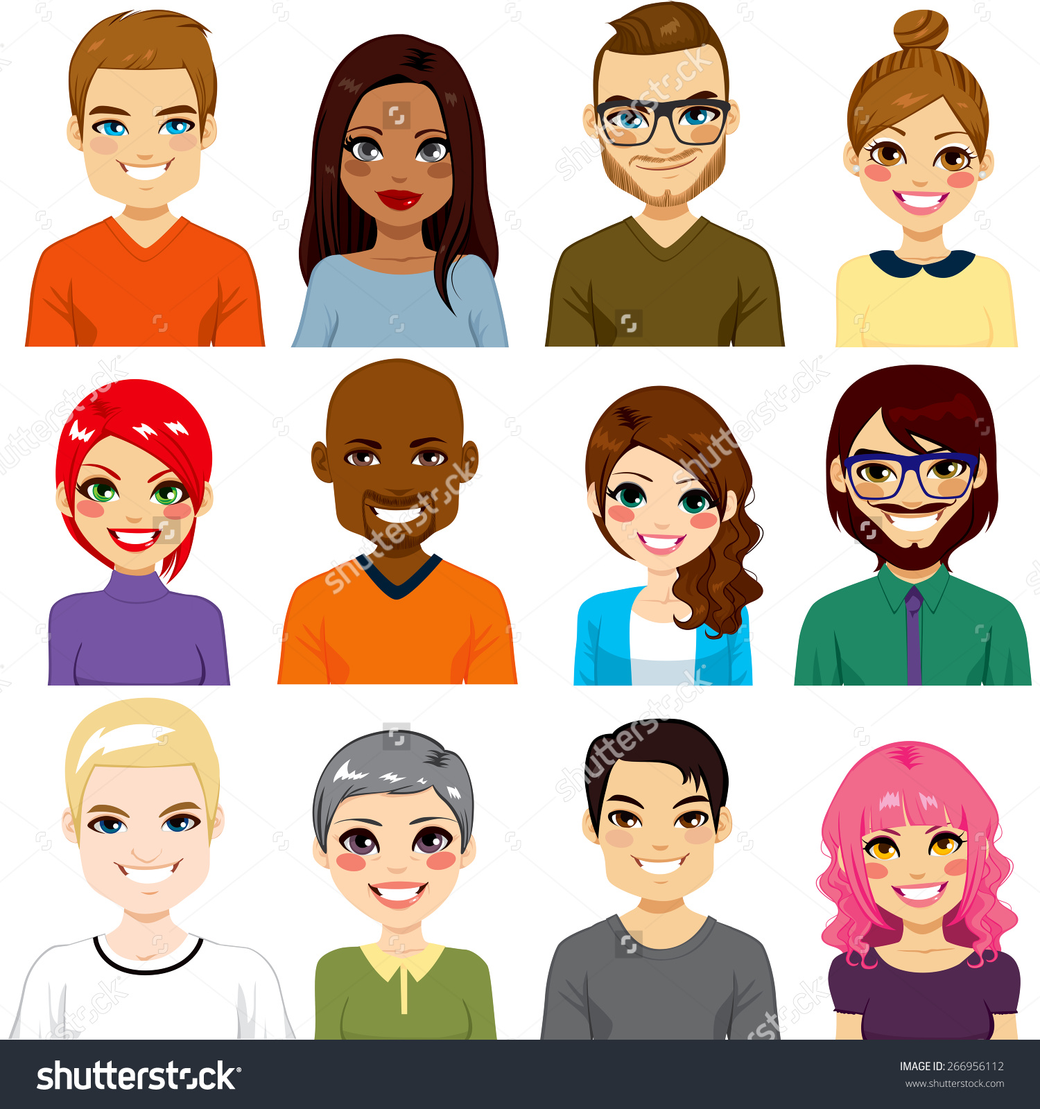 Very Different People Clipart.
