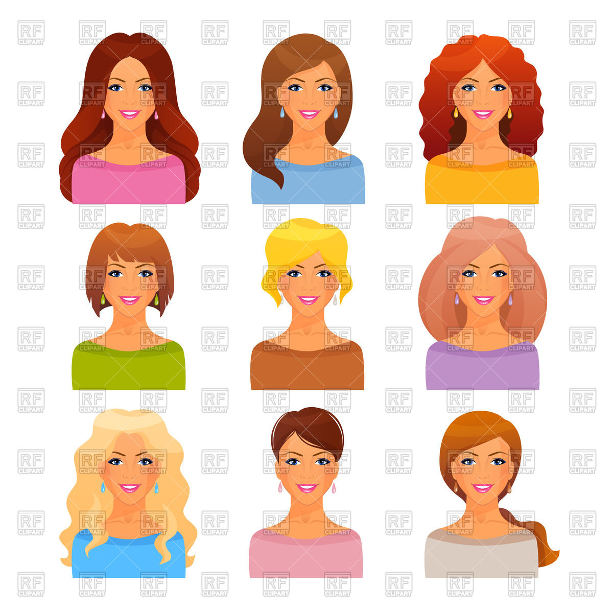Different Beautiful Clipart.