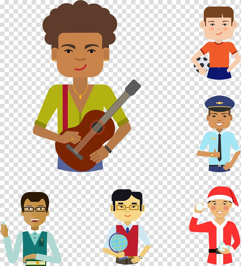 Profession , People of different professions creative ppt.