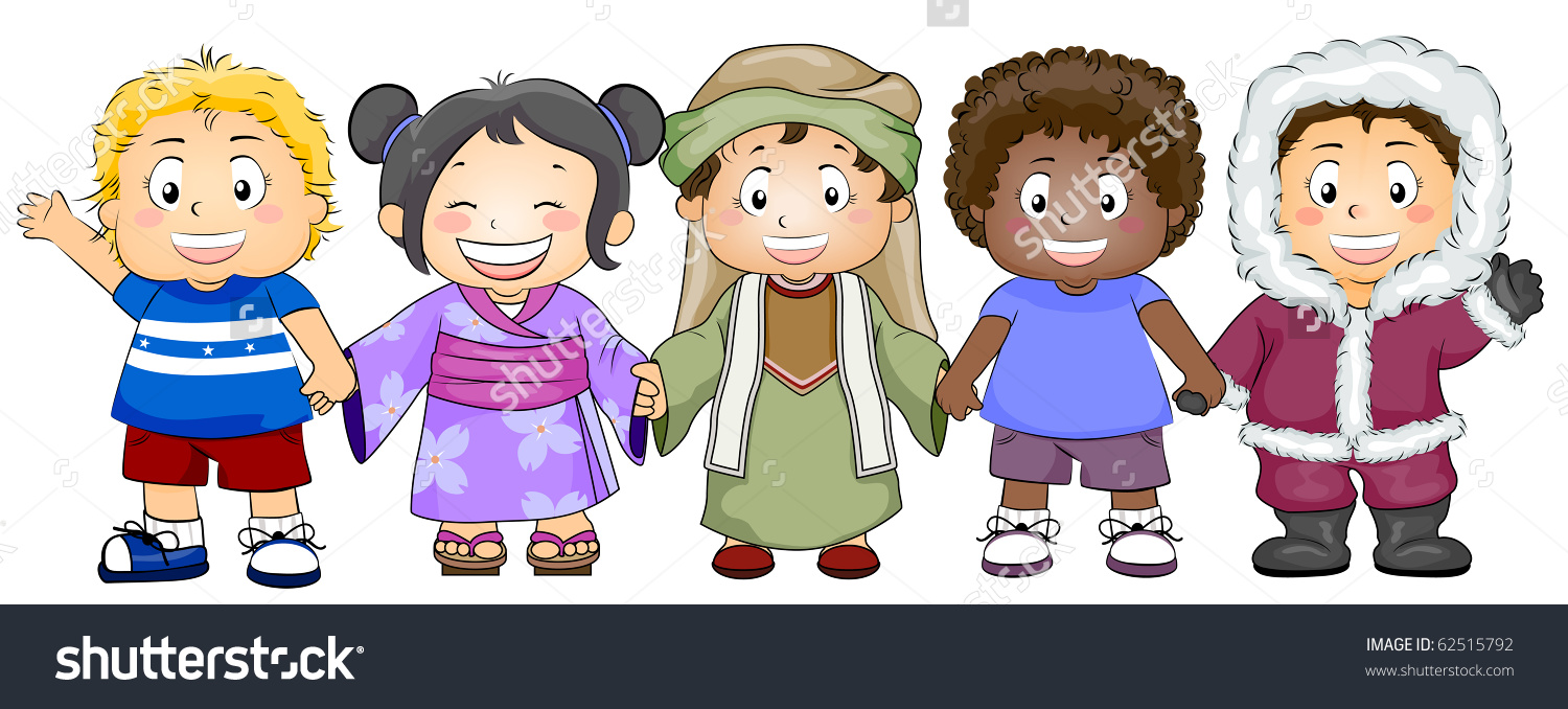 Different Races Of People Clipart.