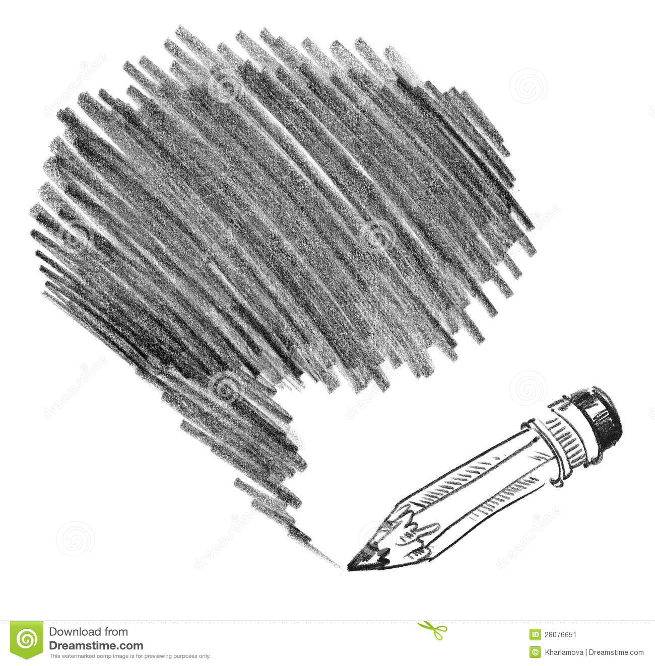 Pencil Shading Stock Image.