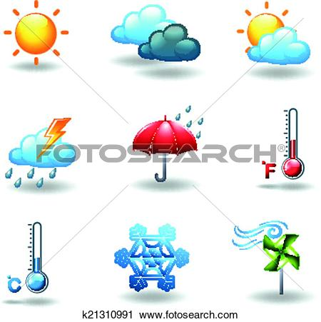 Clipart of Different weather conditions k21310991.