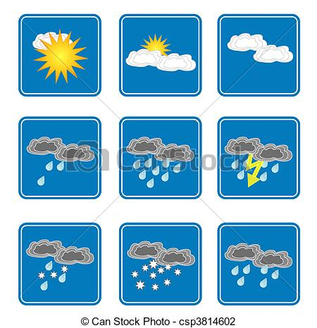 Clip Art of Weather icons.