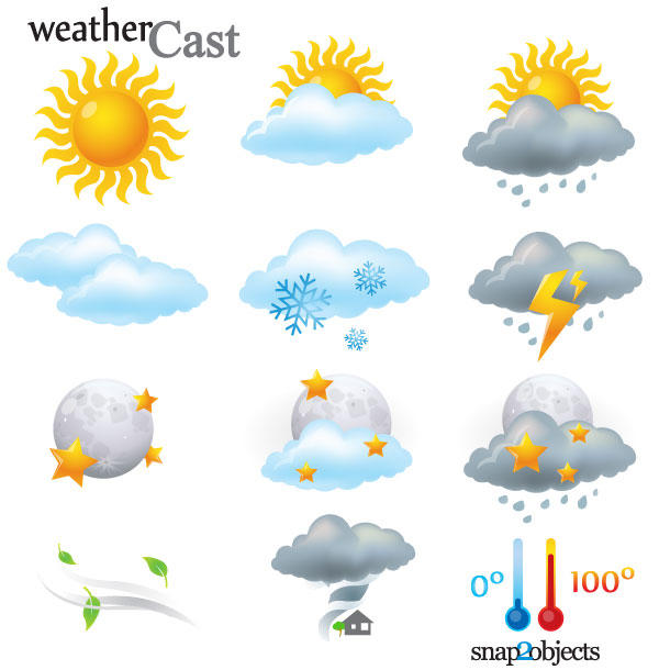 Weather Clip Art For Kids Printable.