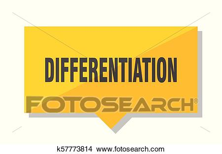 Differentiation price tag Clipart.