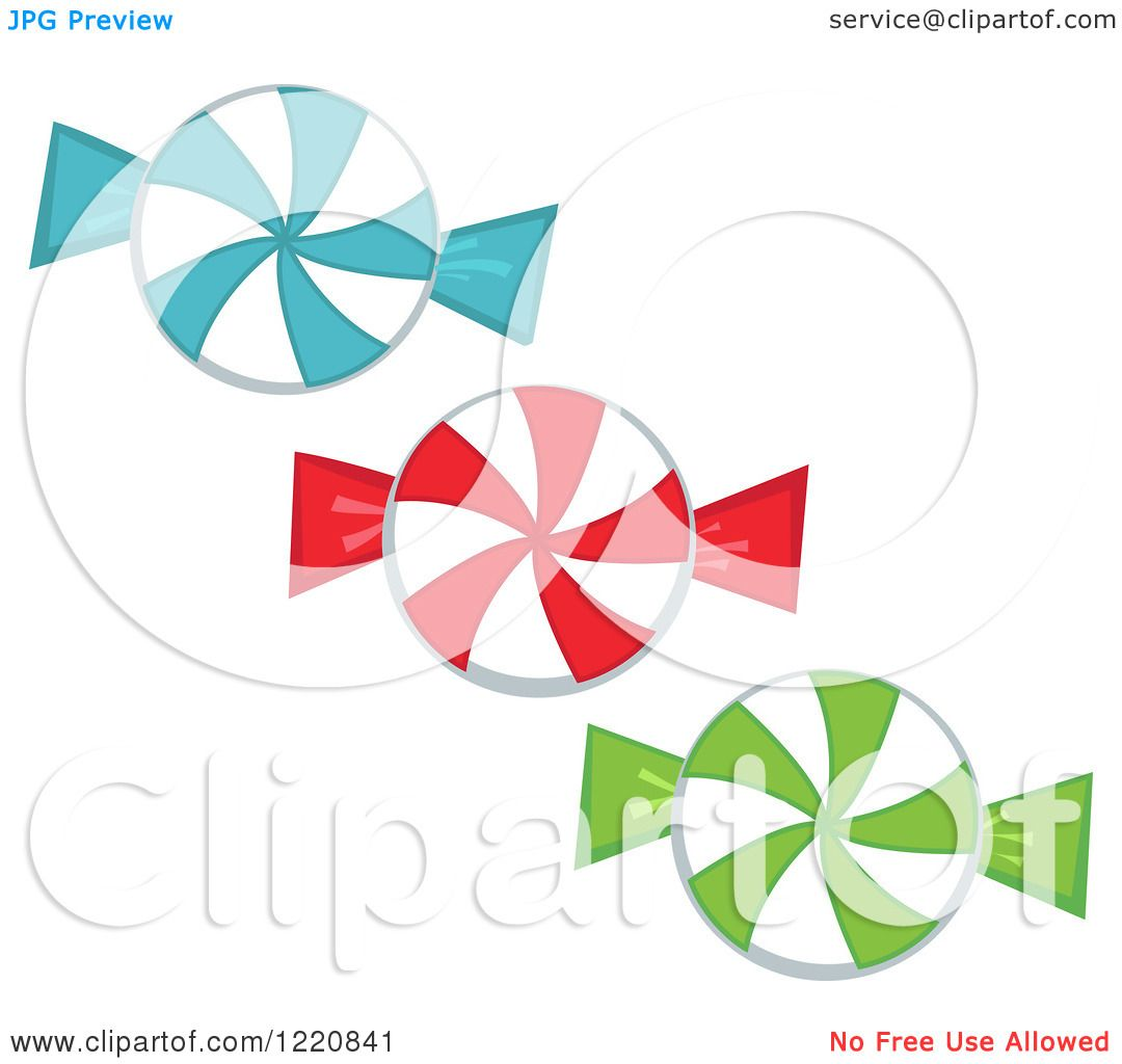 Clipart of Hard Christmas Candies.