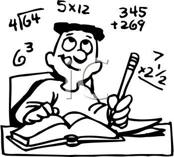 Difficult Math Clipart.
