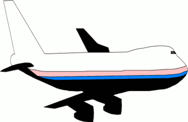 Airplane Animated Diffraction Photos Clipart.