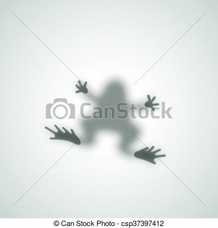 Vector Clip Art of Diffuse Toad Silhouette Shadow Abstract Vector.