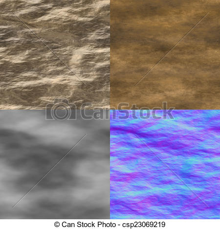 Clipart of Wet stone seamless generated texture (with diffuse.