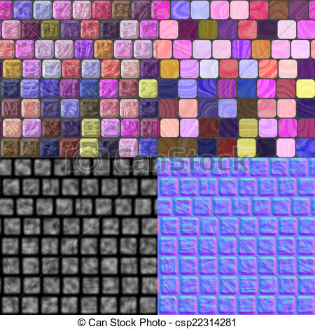 Stock Illustration of Glass tiles seamless generated texture (with.