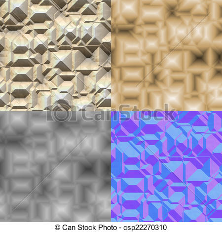 Clipart of Stone blocks seamless generated texture (with diffuse.