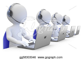 Telemarketing Business Group Clipart.