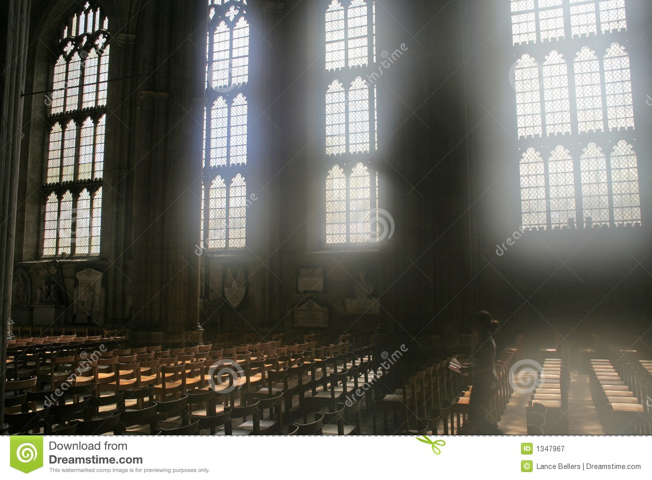 Diffused Light Through Cathedral Windows Royalty Free Stock.
