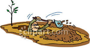 Clipart digging a hole.