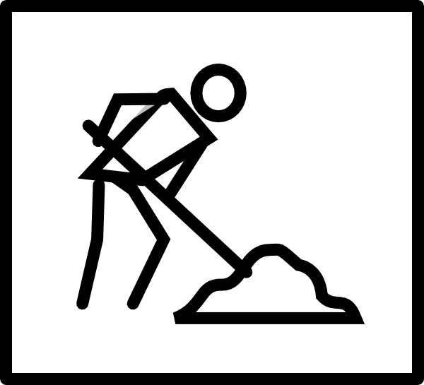 Dig Clipart Black And White.