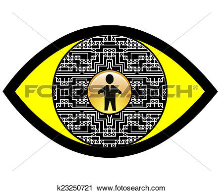 Clipart of Digital Spy Eye k23250721.