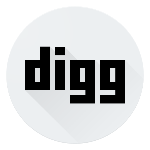 Digg logo media social icon.