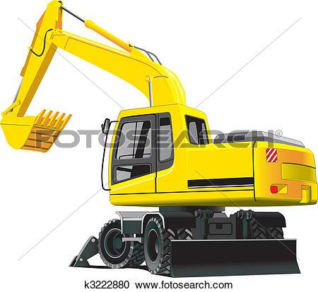 Clipart of excavator k3222880.