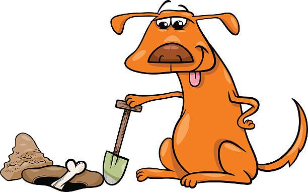 Best Dog Digging Illustrations, Royalty.