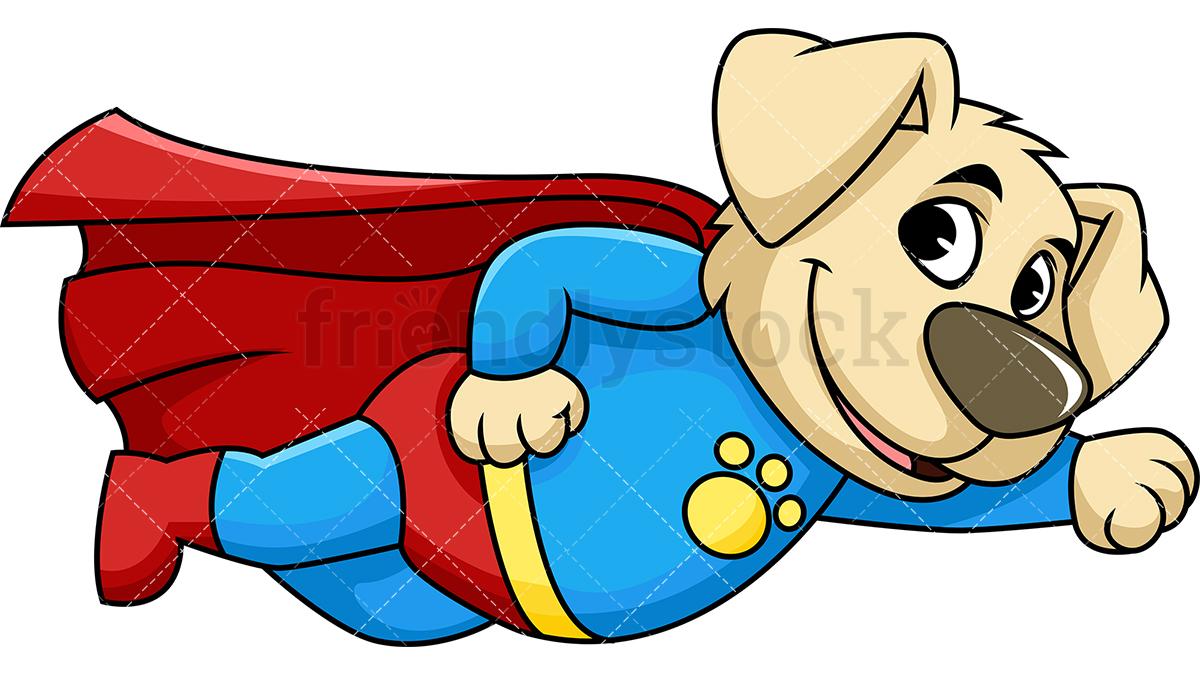 Dog Superhero Mascot Character.