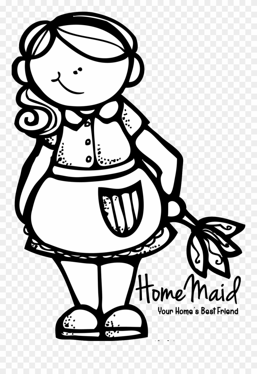 Cleaning Maid, Cleaning Logos, Digi Stamps, Clipart,.