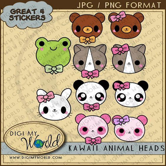 Kawaii Animal Heads 1.