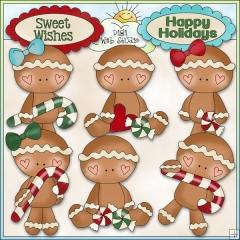 Gingerbread Clip Art : Digi Web Studio, Clip Art, Printable.