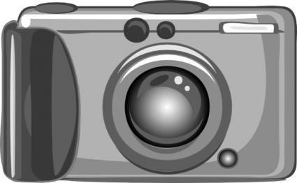 Digital Camera clip art Free Vector.
