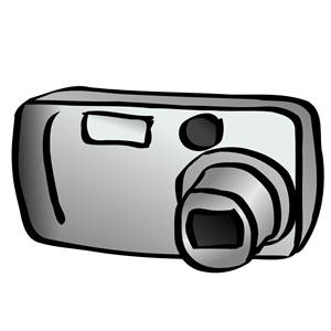 Digital camera (compact) clipart, cliparts of Digital camera.