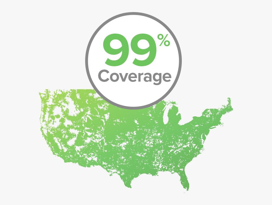 Republic Wireless Coverage Map.