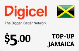 Digicel Jamaica $5 Top.
