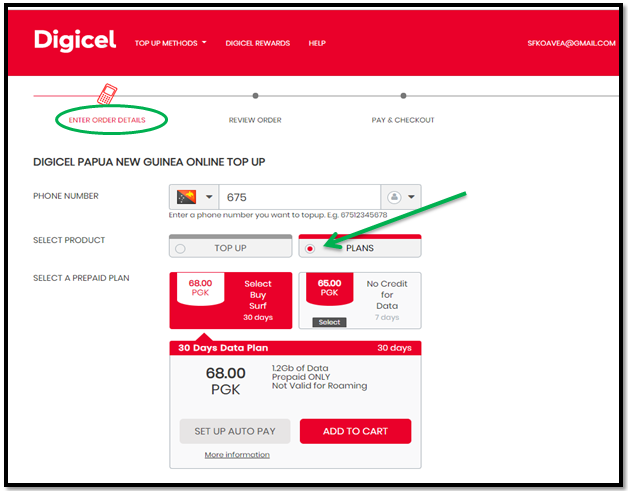 How to purchase Data Bundle using online top up.