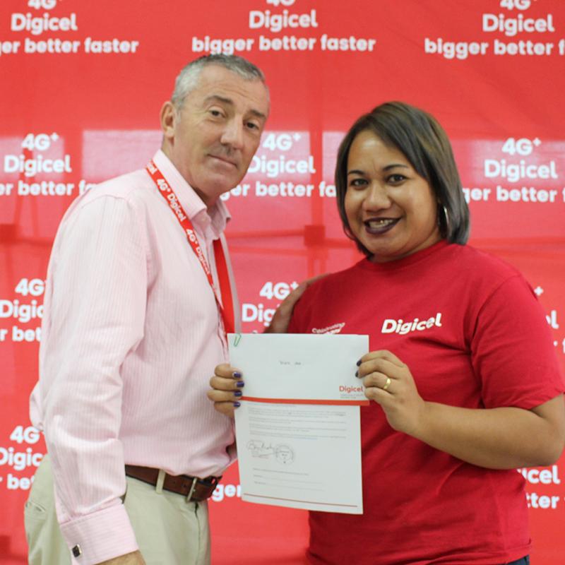 Digicel helps rebuild staff homes.