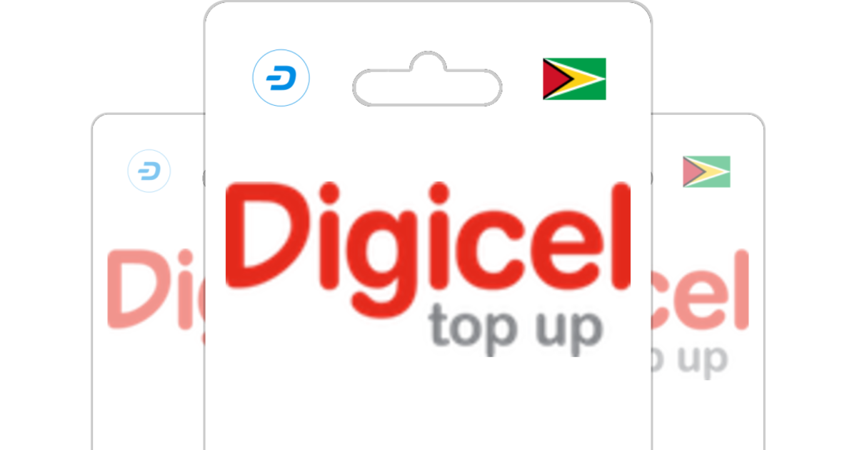 Digicel Guyana GBP Prepaid Top Up with Dash.