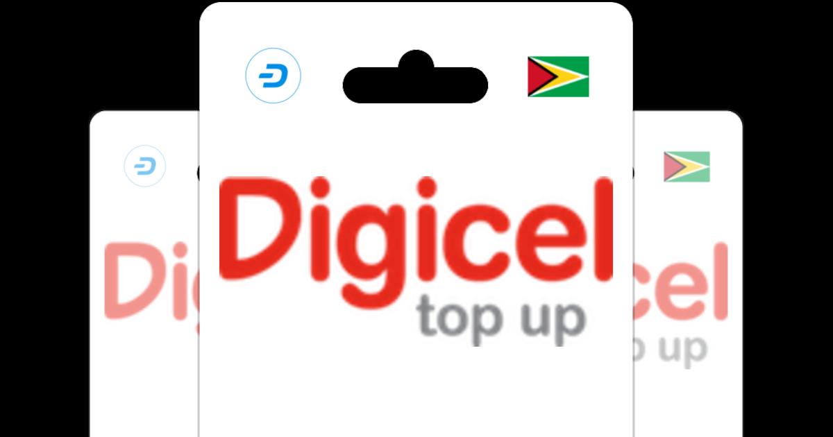 Digicel Guyana GBP Prepaid Top Up with Dash.