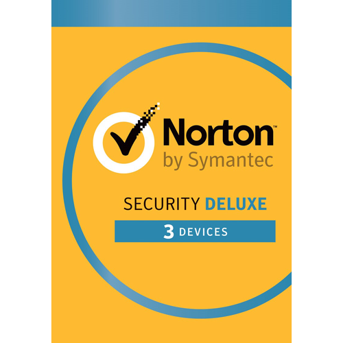 Norton Security Deluxe (1 year, 3 devices).