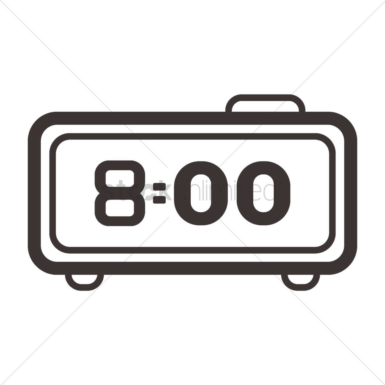 Digital alarm clock Vector Image.