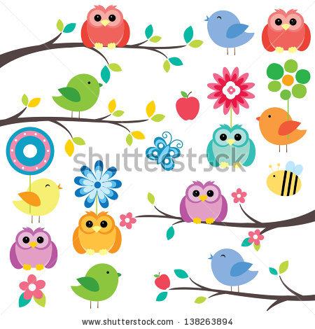 Birds Digital Clip Art Stock Photos, Royalty.