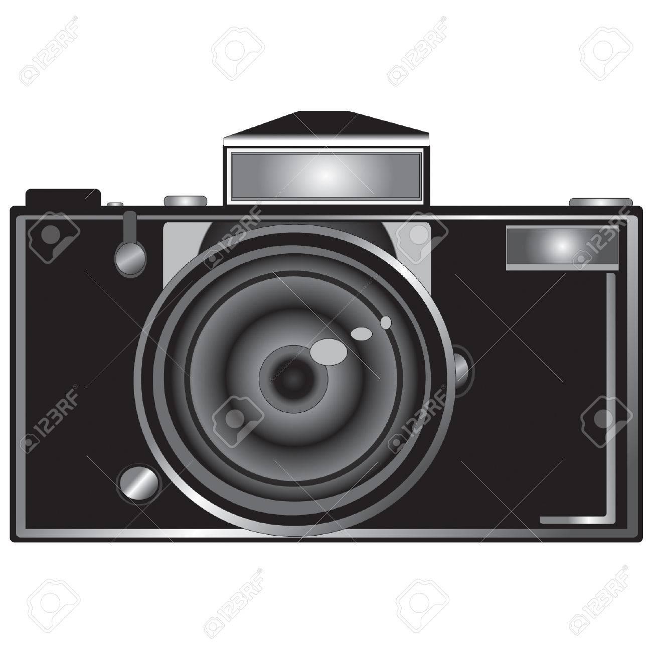 medium format digital camera vector clip art.