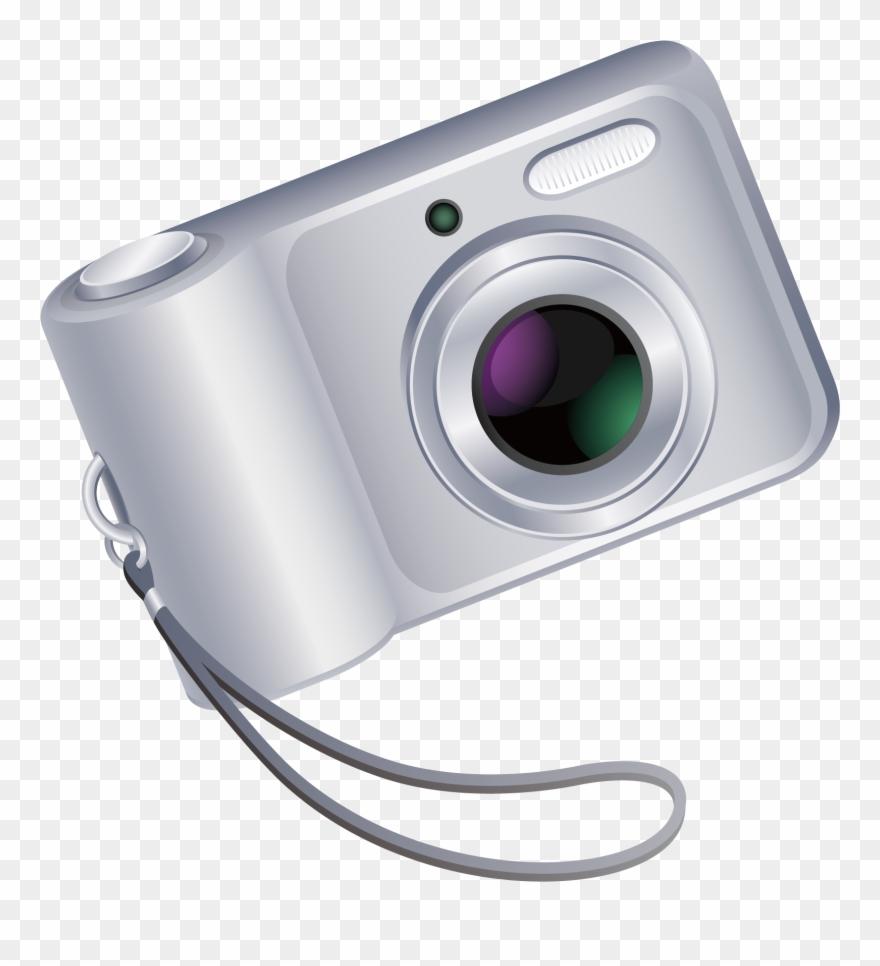 Digital Camera Clipart Vector.
