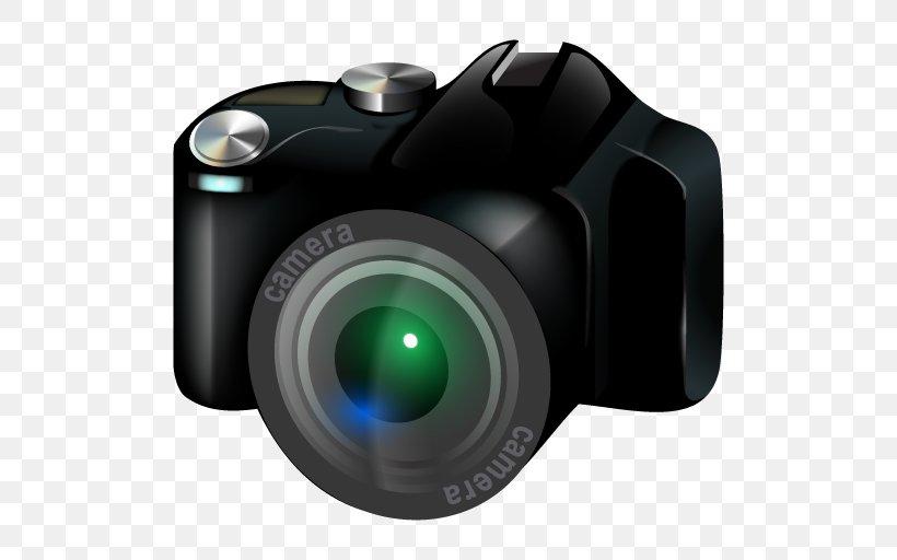 Camera Digital SLR Clip Art, PNG, 512x512px, Camera, Button.