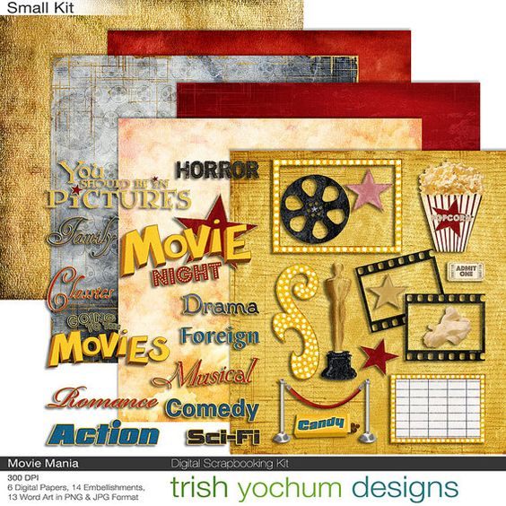 Movie Clipart Digital.