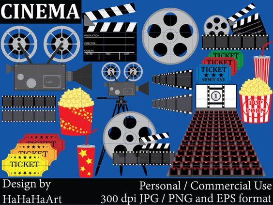 Cinema Set Clipart.
