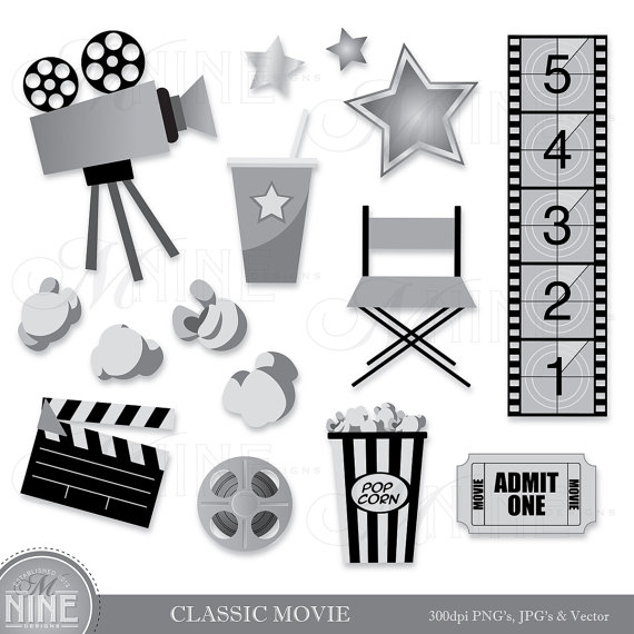 Vintage Movie Theater Clipart.