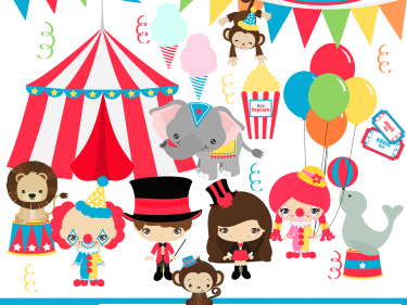 Circus Digital Clipart, clip art collection.