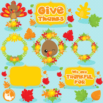 Thanksgiving turkey clipart commercial use, vector graphics, digital.