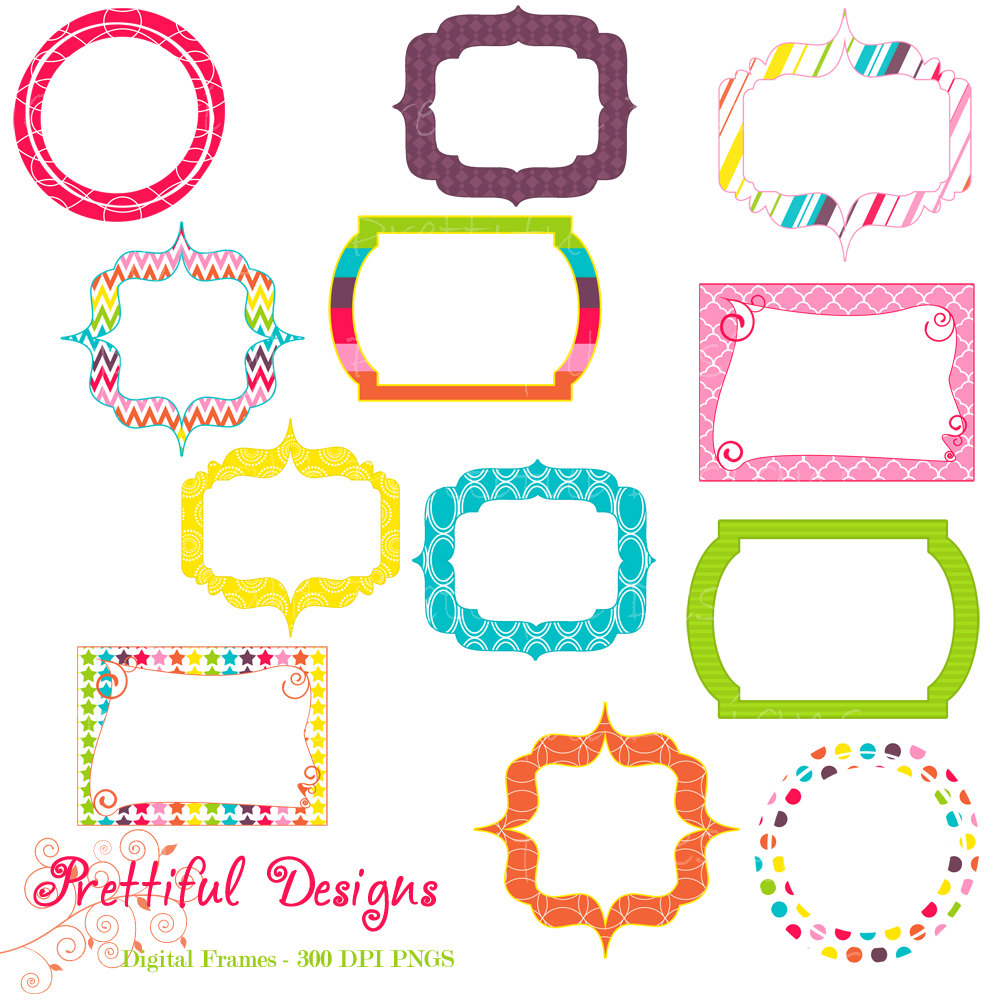 Digital Clipart Frames Free.